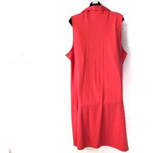 Lands' End Dresses - Lands End Plus Pink Pull Over Polo Dress